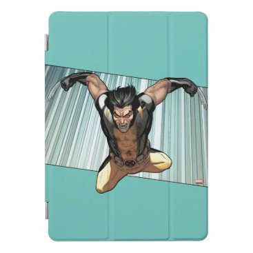 X-Men | Wolverine Leaping Down Comic Panel iPad Pro Cover