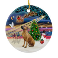 Xmas Magic - Rhodesian Ridgeback ornament
