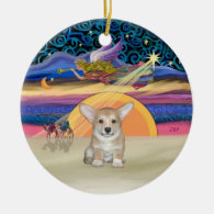 Xmas Star - Pembroke Welsh Corgi Puppy Christmas Ornaments