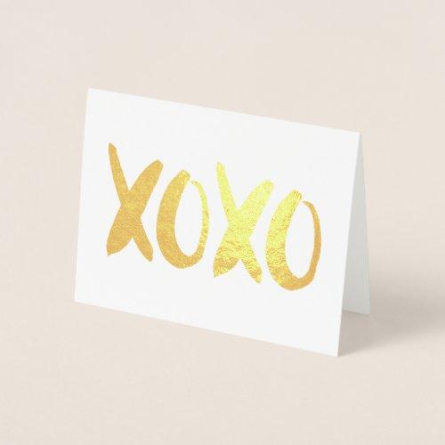 XOXO Valentine's Day Photo Foil Card