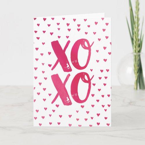 XOXO Watercolor Valentine's Day Card