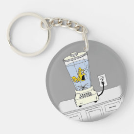 Ya Betcha I'm Stressed! (Fish in a Blender) Keychain