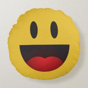 yah emoji round pillow