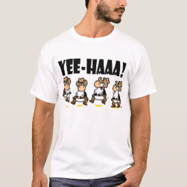 Yee-HAA! Linedancing Cows T-Shirt