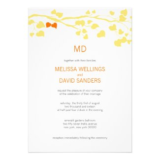 Yellow And Orange Fall Wedding Template Invitation
