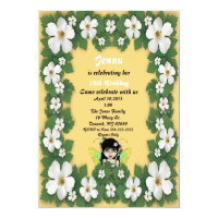 Yellow Fairy Birthday Invitation
