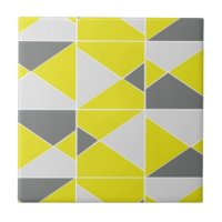 Yellow And Grey Ceramic Tiles   Zazzle