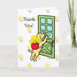 ❤️ Sweet Yellow Lab with Daffodils Thank You Card