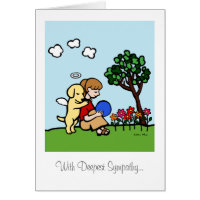 Yellow Labrador Angel with Love Card