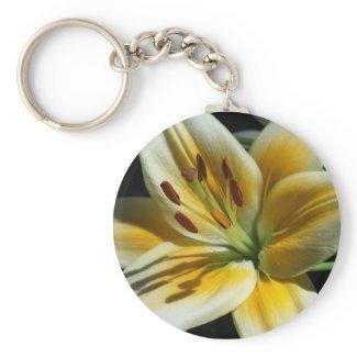 Yellow Lily Keychain keychain