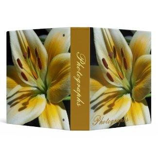 Yellow Lily Photo Binder binder