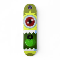 Yellow Monster Alien - Planet Cazmo skateboards