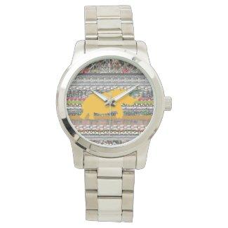 Yellow Rhino Art Silver Unisex Watch