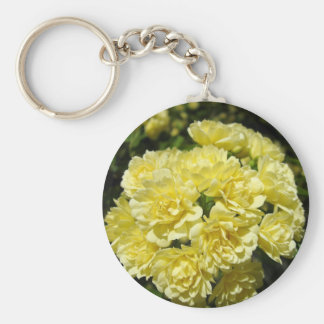 Yellow Rose Bush Key Chains
