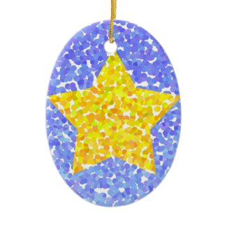 Yellow star - Ornament ornament