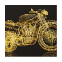 Motorcycle Wood Wall Art | Zazzle