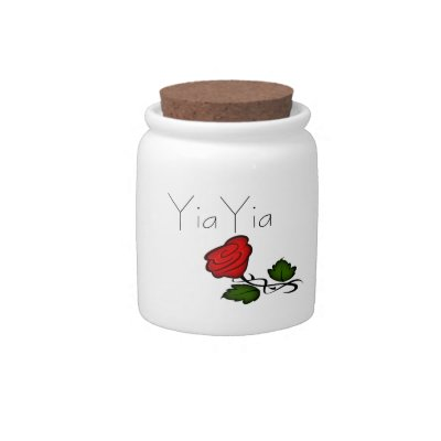 Yia Yia Goodies Rose Candy Jar