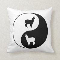 Yin Yang Alpaca Art Throw Pillow