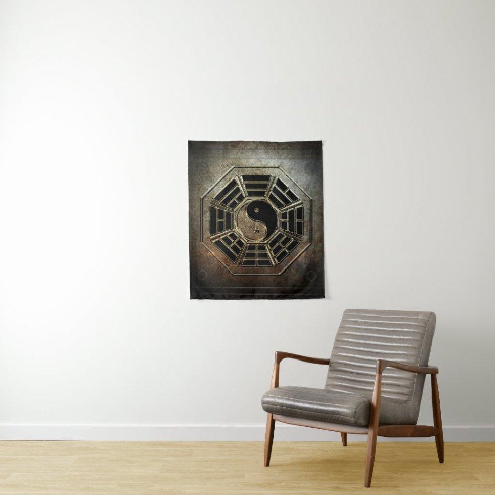Yin Yang Bagua Small Wall Tapestry