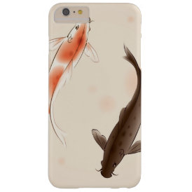 Yin Yang Koi fishes in oriental style painting Barely There iPhone 6 Plus Case