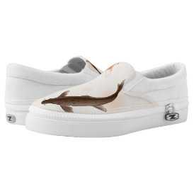 Yin Yang Koi fishes in oriental style painting Slip-On Sneakers