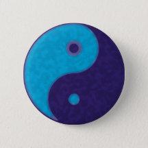 yin yang zen meditation tao button