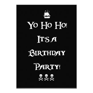Yo Ho Ho Pirate Birthday Party Invitation