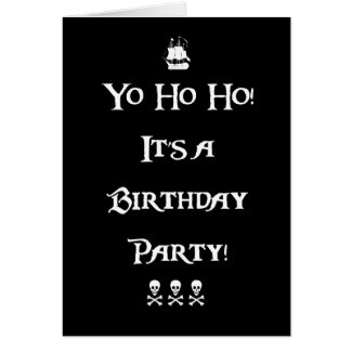 Yo Ho Ho Pirate Birthday Party Invitation Card