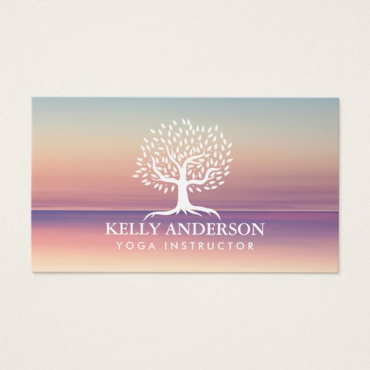 Yoga Instructor Life Coach Vintage Tree Classy Business ...