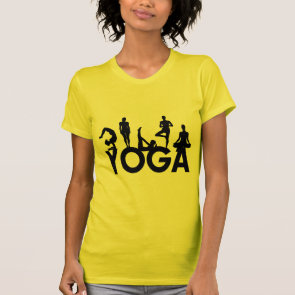 Yoga Women Silhouettes Tee Shirts