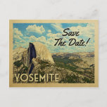 Yosemite Save The Date Vintage National Park Announcement Postcard