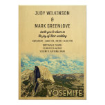 Yosemite Wedding Invitation Vintage National Park
