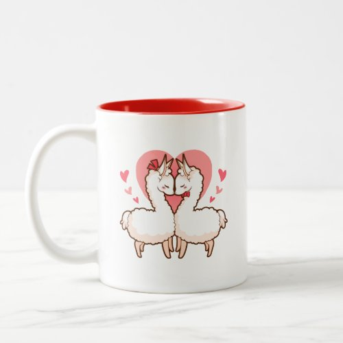 You are my Love Llama Two-Tone Coffee Mug