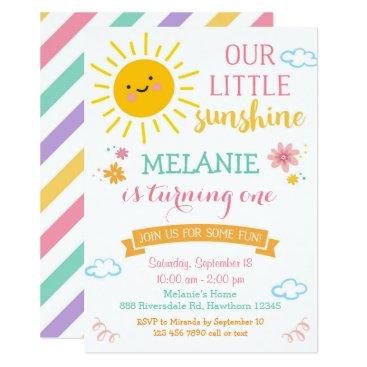 You are my sunshine birthday invitation, summer invitation
