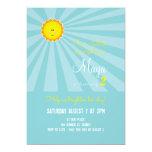 You are my Sunshine Birthday Invitation -turquoise