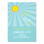 You are my Sunshine Birthday Invitation -turquoise
