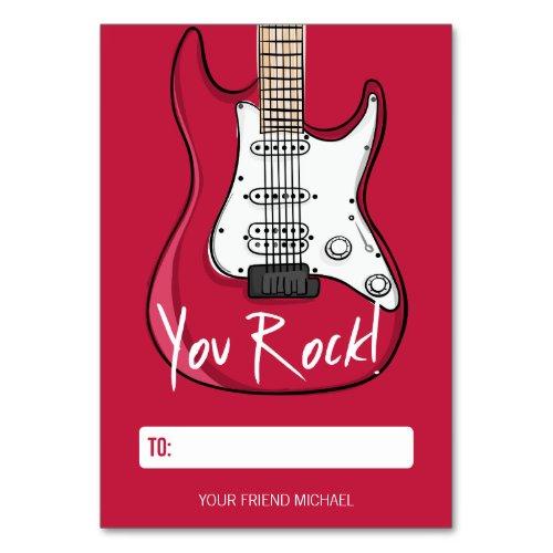 You Rock Kids Classroom Valentine Card