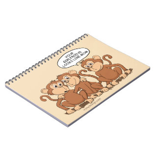 Your Girlfriend Looks Like Mom Funny Monkey Notebook