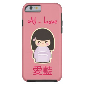 YOUR Name in Japanese and English Kawaii Geisha Tough iPhone 6 Case