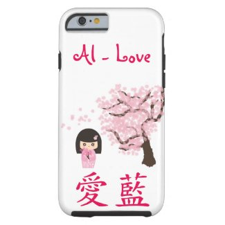 Your name in Japanese Kawaii Geisha girl cheery Tough iPhone 6 Case