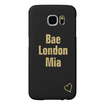 Your names in gold with heart samsung galaxy s6 case