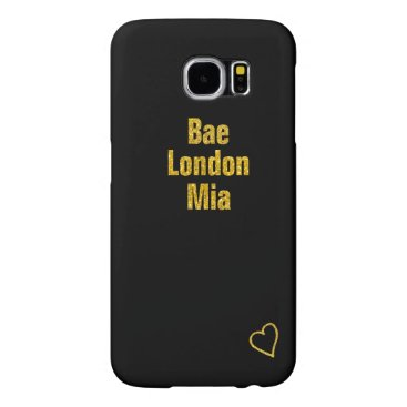 Your names in gold with heart V2 Samsung Galaxy S6 Case