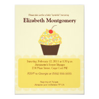 Yummy Cupcake Neutral Baby Shower 4x5 invitation