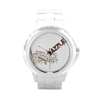 Zazzle Tag Cloud on white Background Wristwatches