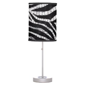 Zebra Black/White Bling Lamps