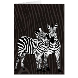 Zebra Play Note Card