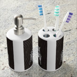 Zebra Play Toothbrush Holder