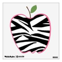Zebra Print Apple Wall Decal | Zazzle