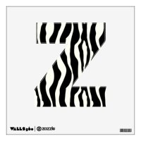 Zebra stripes - Black and White Wall Decal | Zazzle