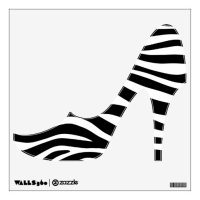 Zebra Stripes High Heels Wall Decal | Zazzle